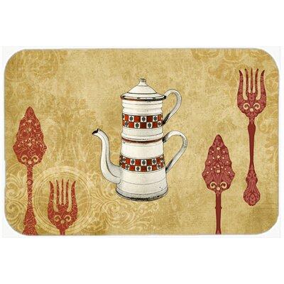 "Teapot Welcome Kitchen/Bath Mat Size: 20"" H x 30"" W x 0.25"" D"