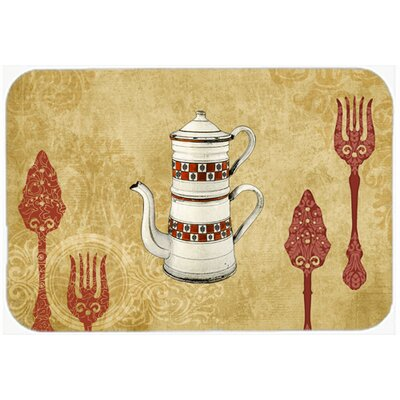 "Teapot Welcome Kitchen/Bath Mat Size: 24"" H x 36"" W x 0.25"" D"