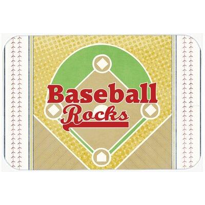 """Baseball Rocks Kitchen/Bath Mat Size: 20"""" H x 30"""" W x 0.25"""" D"""