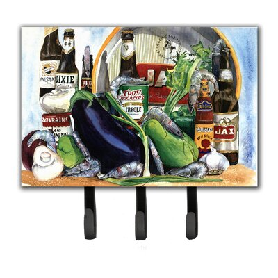 Eggplant and New Orleans Beers Key Holder