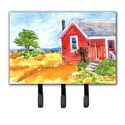 Old Cottage House at The Lake Or Beach Leash Holder and Key Hook
