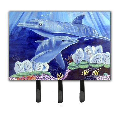 Dolphin Under The Sea Leash Holder and Key Hook