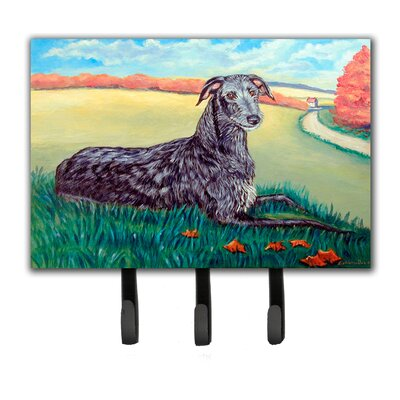 Scottish Deerhound Leash Holder and Key Hook