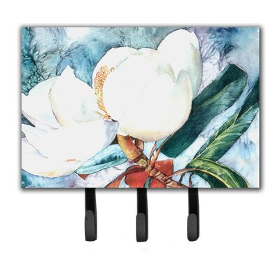 Magnolia Flower Leash Holder and Key Hook
