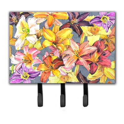 Day Lillies Leash Holder and Key Hook