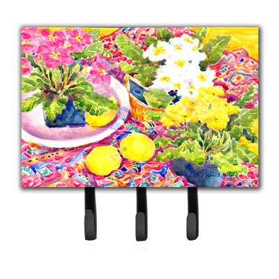 Primroses Flower Leash Holder and Key Hook