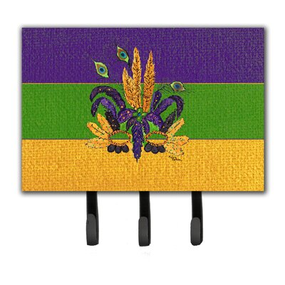 Mardi Gras Mask Key Holder