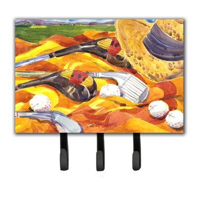 Golf Clubs Golfer Leash Holder and Key Hook