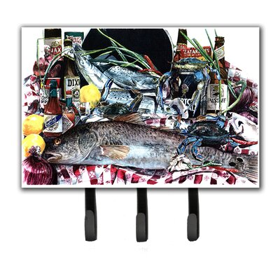 Fish and Beers From New Orleans Leash and Key Holder
