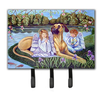 Angels with Great Dane Leash Holder and Key Hook