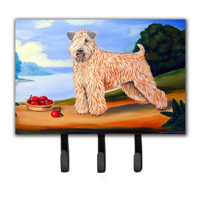 Wheaten Terrier Soft Coated Leash Holder and Key Hook