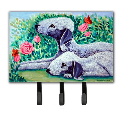 Bedlington Terrier Leash Holder and Key Hook