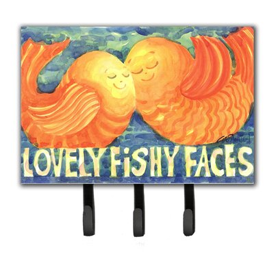 Kissing Fish Leash Holder and Key Hook