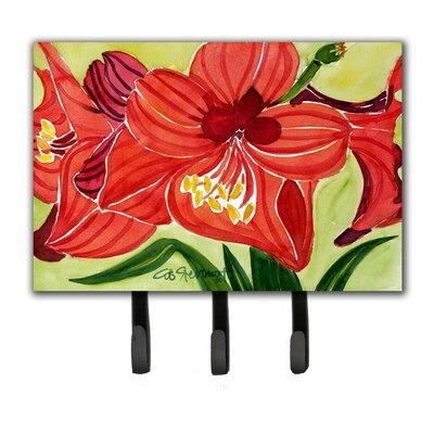 Amaryllis Flower Leash Holder and Key Hook