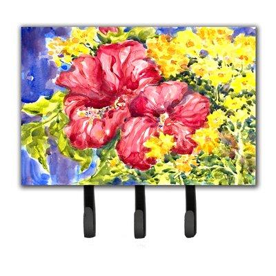 Hibiscus Flower Leash Holder and Key Hook