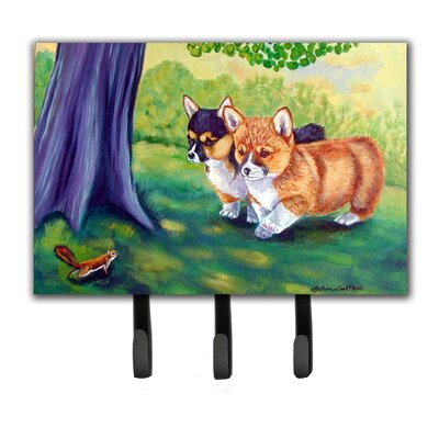 Corgi Leash Holder and Key Hook