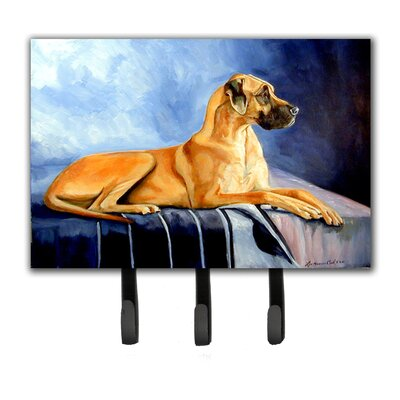 Natural Fawn Great Dane Leash Holder and Key Hook