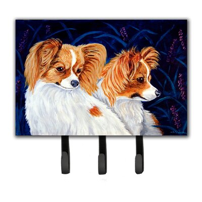 Papillon Leash Holder and Key Hook