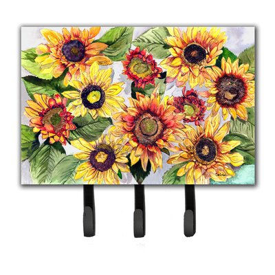 Sunflowers Leash Holder and Key Hook