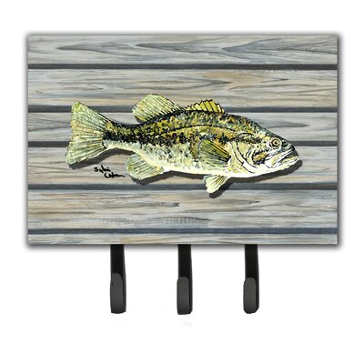Fish Bass Small Mouth Leash Holder and Key Hook