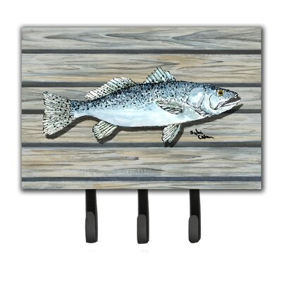 Fish Speckled Trout Leash Holder and Key Hook