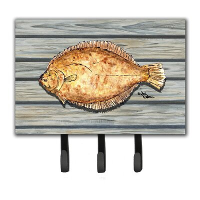 Fish Flounder Leash Holder and Key Hook