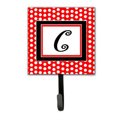 Monogram Polka Dots Wall Hook Letter: C