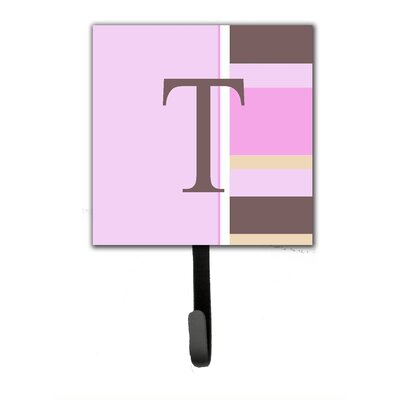Monogram Stripes Wall Hook Letter: T
