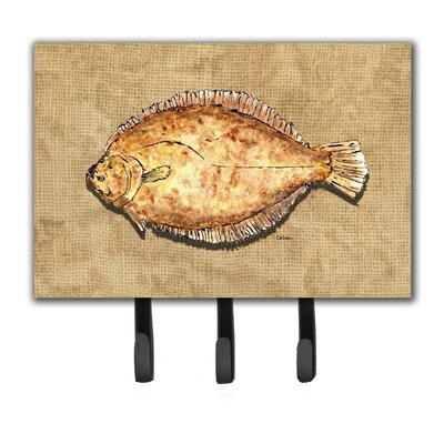 Flounder Leash Holder and Key Hook