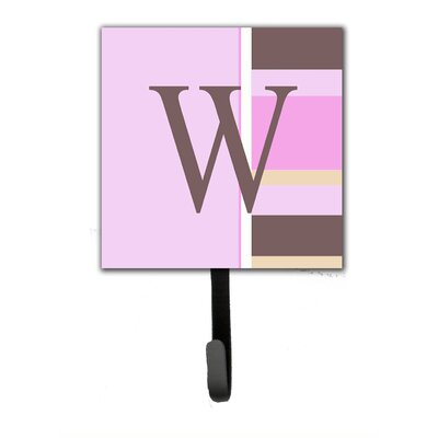 Monogram Stripes Wall Hook Letter: W