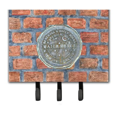 New Orleans Watermeter on Bricks Leash and Key Holder