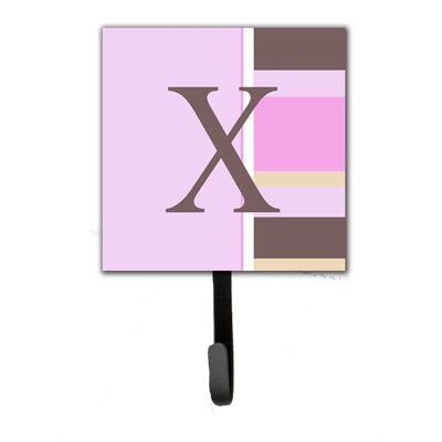 Monogram Stripes Wall Hook Letter: X