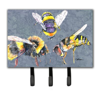 Bee Bees Times Three Leash Holder and Key Hook