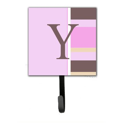 Monogram Stripes Wall Hook Letter: Y