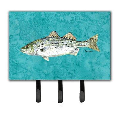 Striped Bass Fish Key Holder