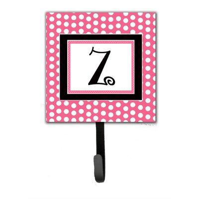 Monogram Polka Dot Wall Hook Letter: Z