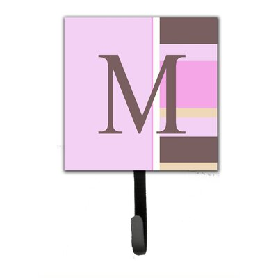 Monogram Stripes Wall Hook Letter: M