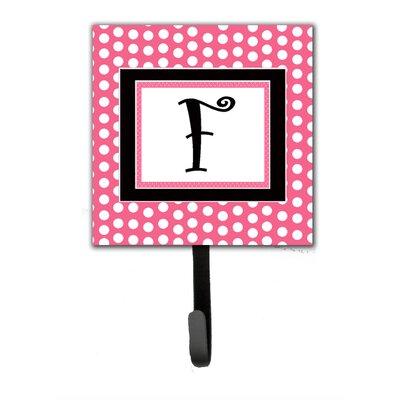 Monogram Polka Dot Wall Hook Letter: F