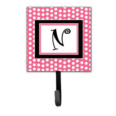 Monogram Polka Dot Wall Hook Letter: N