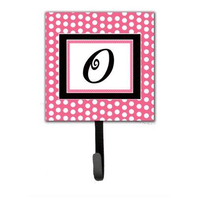 Monogram Polka Dot Wall Hook Letter: O