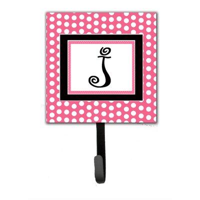 Monogram Polka Dot Wall Hook Letter: J