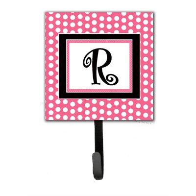 Monogram Polka Dot Wall Hook Letter: R