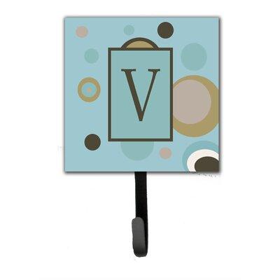 Monogram Dots Wall Hook Letter: V