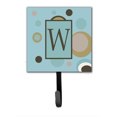 Monogram Dots Wall Hook Letter: W