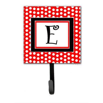 Monogram Polka Dots Wall Hook Letter: E