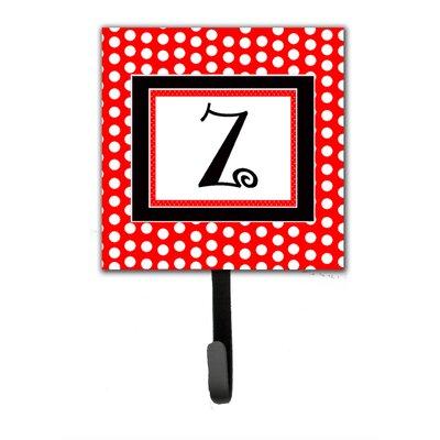 Monogram Polka Dots Wall Hook Letter: Z