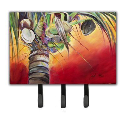 Sunset on The Coconut Tree Leash Holder and Key Hook
