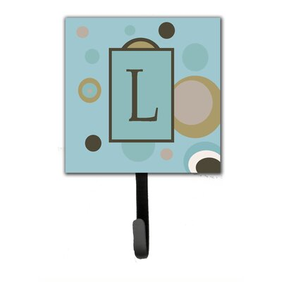 Monogram Dots Wall Hook Letter: L