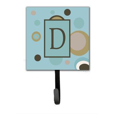 Monogram Dots Wall Hook Letter: D