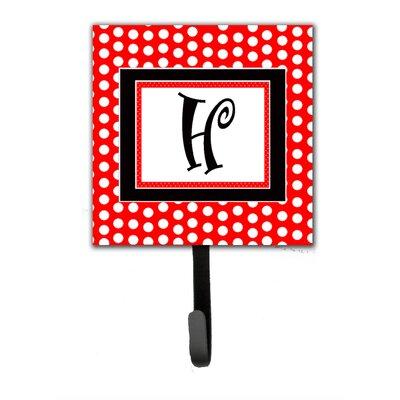 Monogram Polka Dots Wall Hook Letter: H